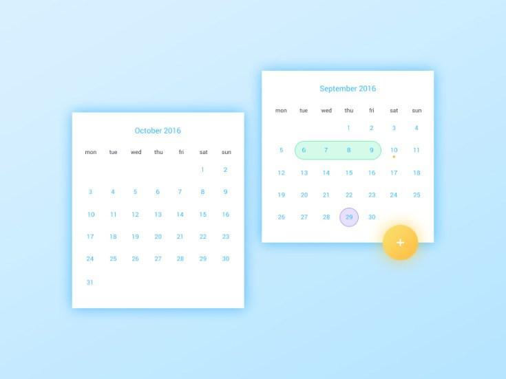 Date Picker UI Design