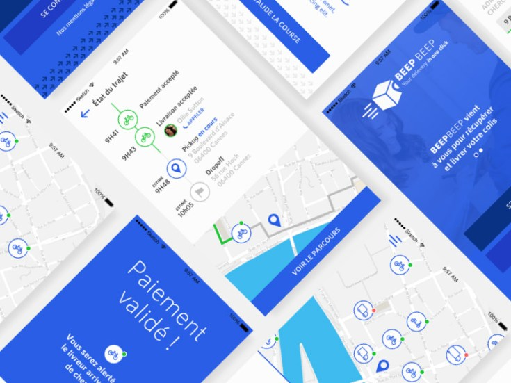 Free Delivery App UI Design