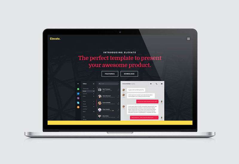 Elevate : Free Landing Page HTML Template