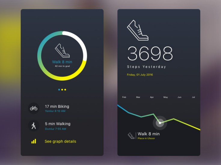 Fitness Tracker UI Design
