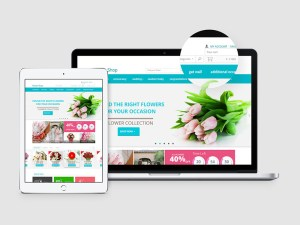Flower Shop Ecommerce PSD Template