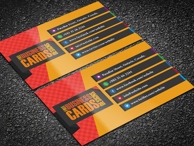 Vector Elegant Business Card Template