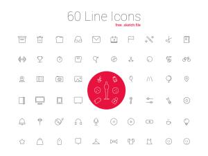 60 Free LIne Sketch Icon