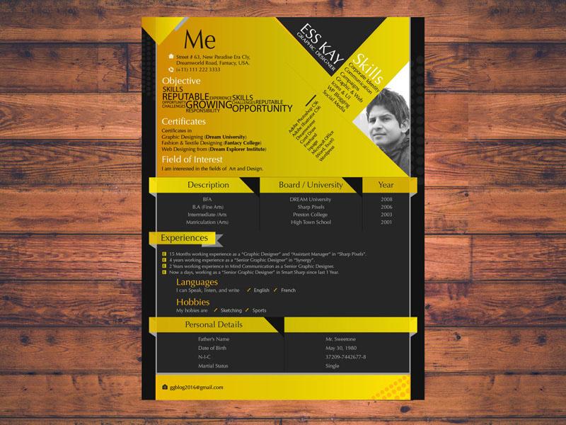 Modern Resume Template for Designer