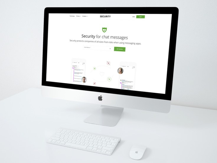 Free Security PSD Website Template