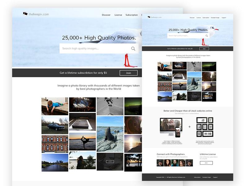 Free Stock Photo PSD Template