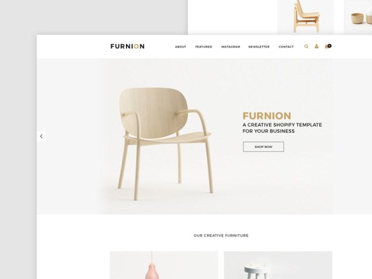 Furnion : Furniture Ecommerce PSD Template