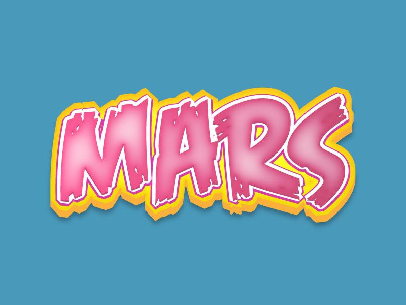 Mars Illustrator Text Effect