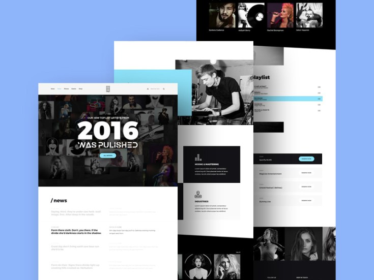 Mesh Rec : Free Music PSD Template