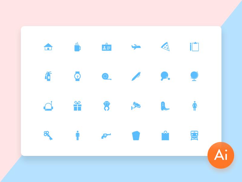 Mini Material Icon Set