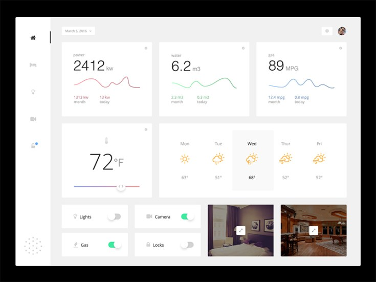 Free Monitoring Dashboard UI PSD