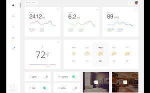 Free Monitoring Dashboard UI PSD