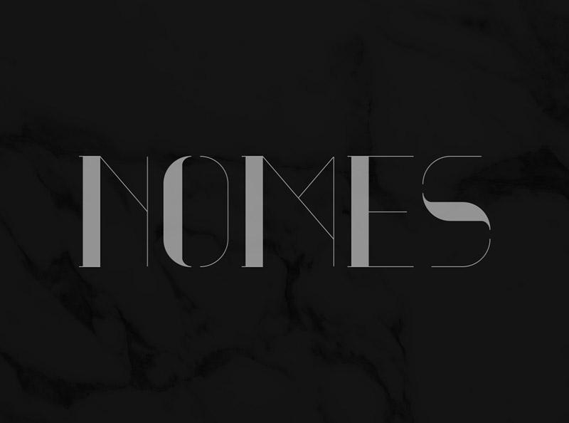 Nomes : Serif Uppercase Font