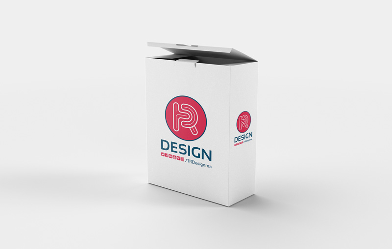 Open Box Mockup PSD