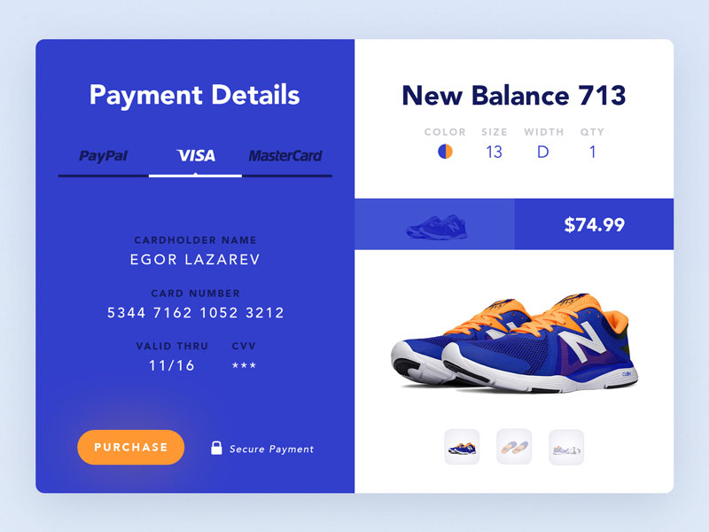 Product Payment UI PSD
