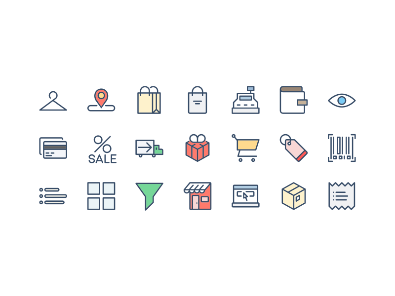 Shopping Icon Set (AI and PSD)