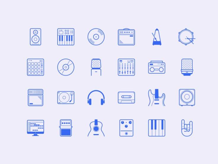 Studio : Free Music Icon Set
