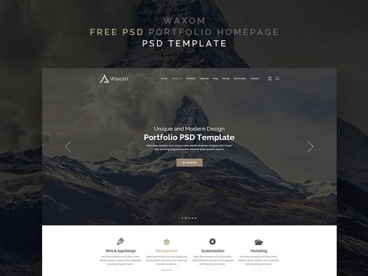 Waxom : Personal Portfolio PSD Template