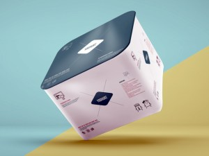 Free Yoghurt Packaging Mockup