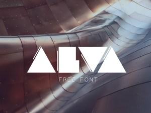 Alva : Minimalist Geometric Font