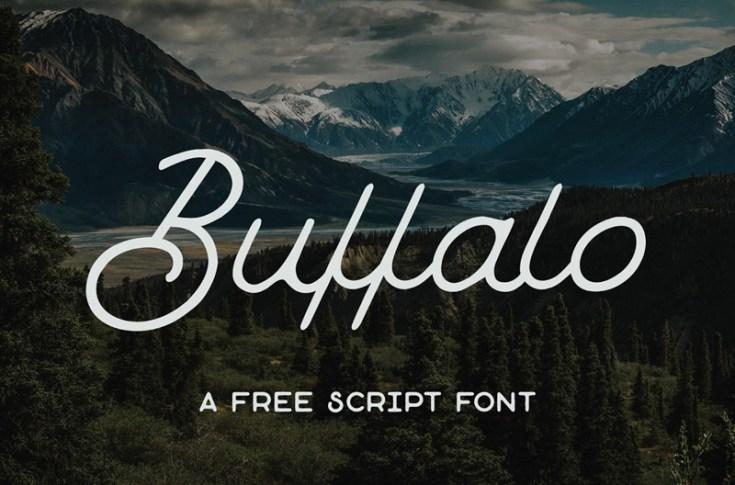 Buffalo : Monoline Script Font