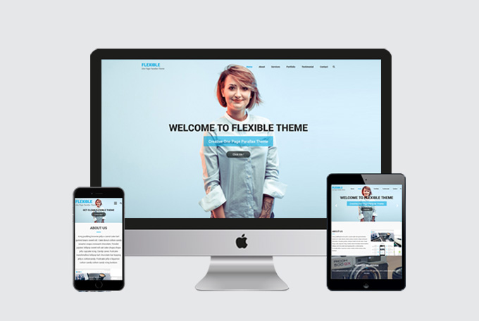 Flexible : One Page Parallax WordPress Theme