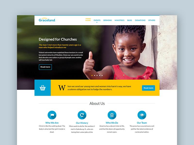 Graceland : Free Charity PSD Web Template