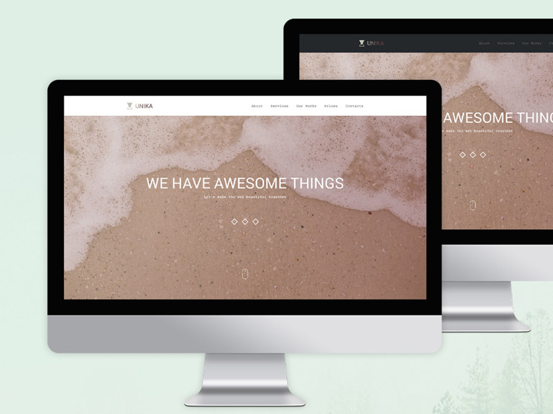 Unika : One Page PSD Template