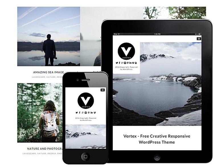 Vertex : Free creative Responsive WordPress Theme