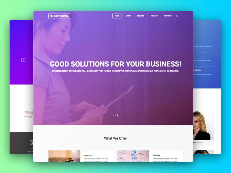 X-Corporation : Free Business Bootstrap Template