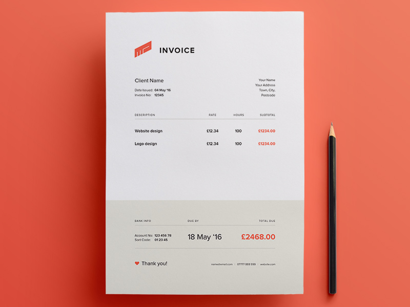 Free Illustrator Invoice Template