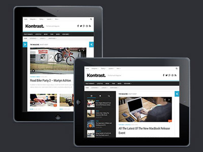 Kontrast : Free Responsive Magazine WordPress Theme