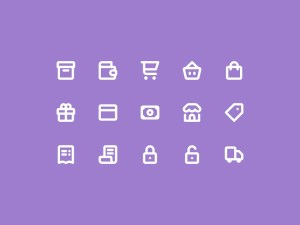 15 Free E-Commerce Icons PSD
