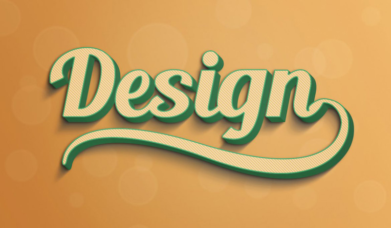 3D Style Text Effect