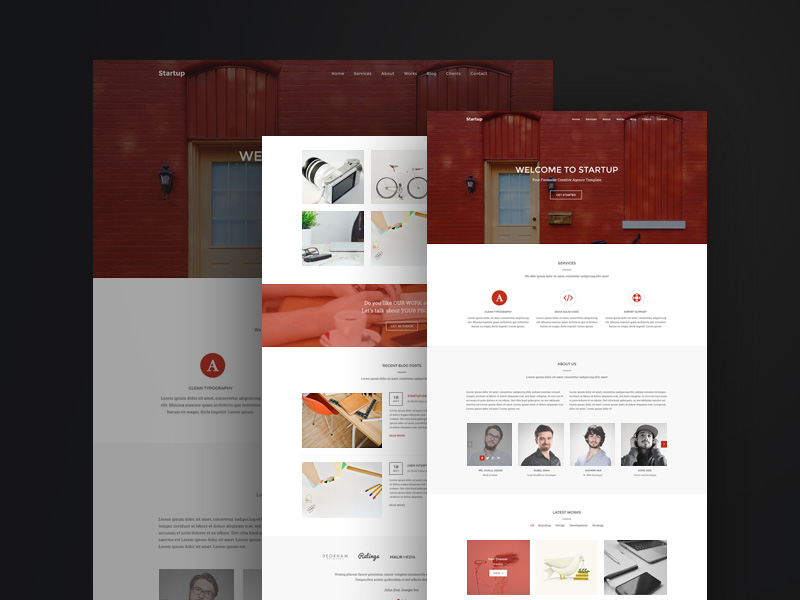 Digital Agency Startup PSD Template