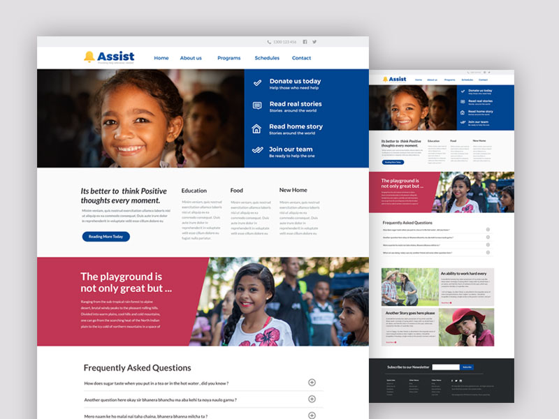 Assist – Free Charity PSD Website Template