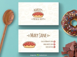 Free Bakery Business Card Template