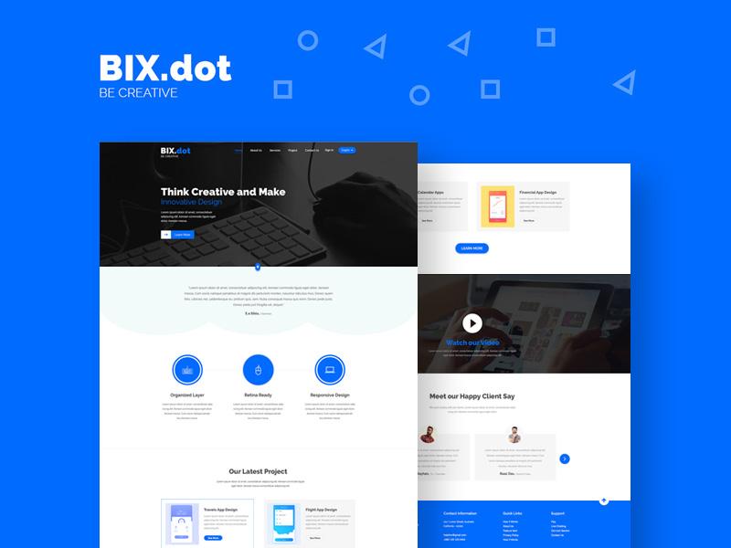 Bix.dot Landing Page Template