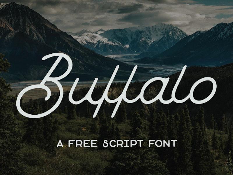 Buffalo Free Monoline  Typeface