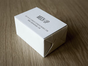Business Card Mockup with Box