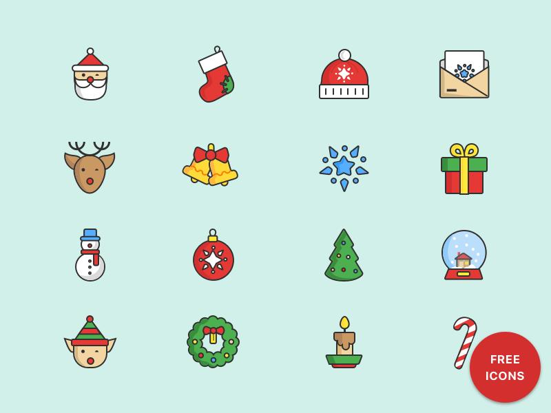 Christmas Gifts Icon Set