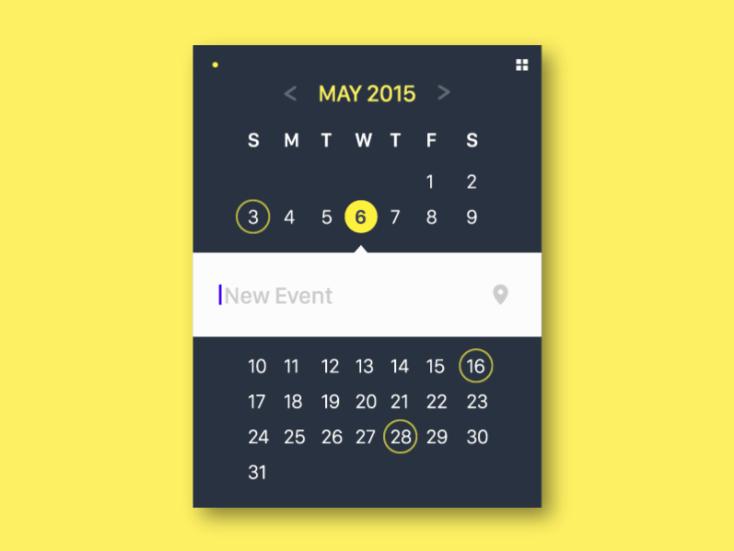 Material Design Calendar Widget