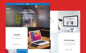 Clean Personal Portfolio PSD Template