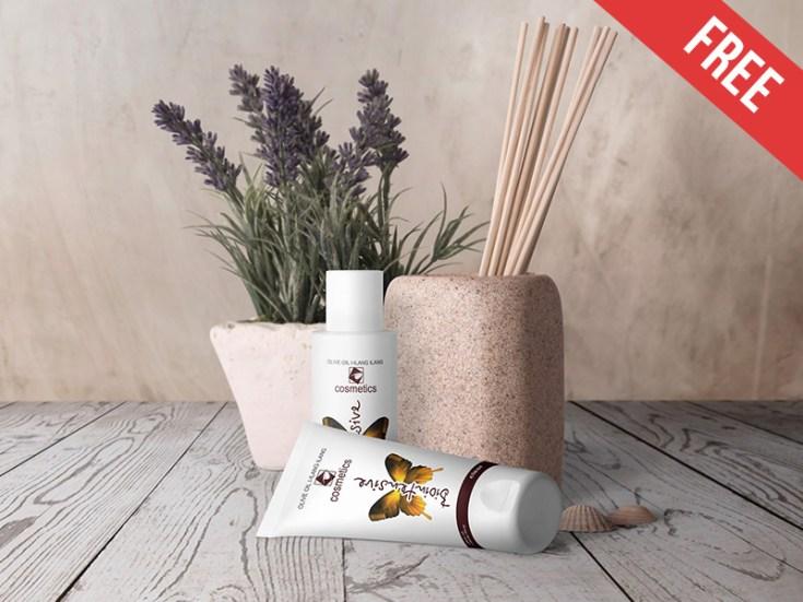 Free Cosmetic Packaging Mockup