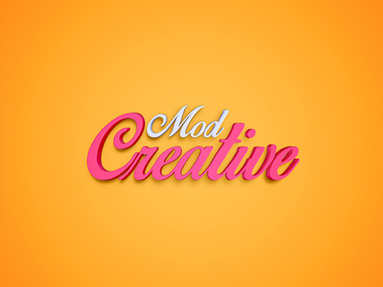 Creative 3D Text Effect PSD