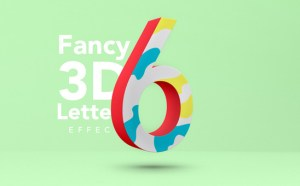 Free Fancy 3D Letter Text Effect