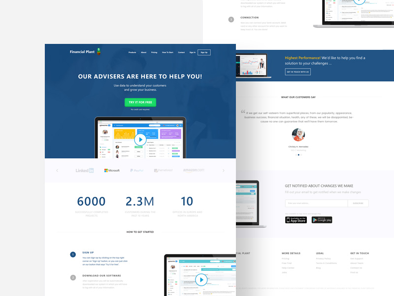 Financial PSD Website Template