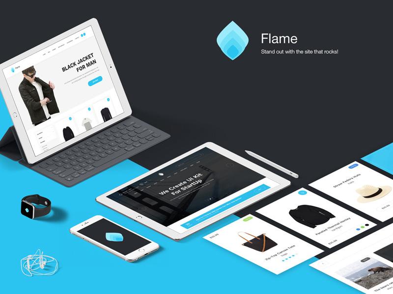 Flame UI Kit Sketch