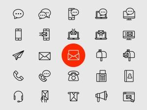 Free Contact Icon Set