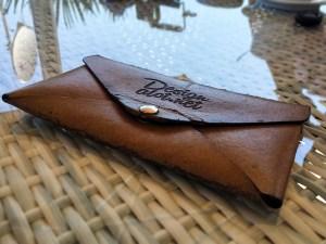 Free Engraved Leather Envelope Mockup